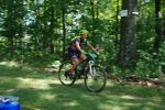 Taylor crushing at mile 70, aid station snaps a pic as she pushes right on past
