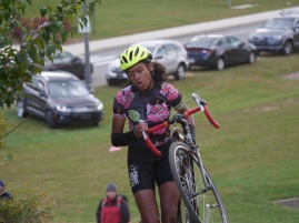 Guest junior rider Tamia in her first cx race