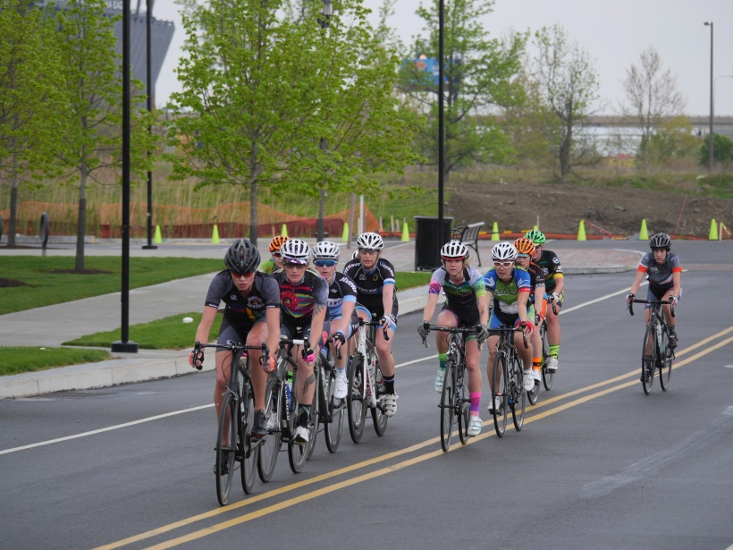 Taryn did a great job holding her position in the peloton