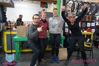 Women's podium powered by Zubaz headbands provided by Mattio! of Second Chance Racing