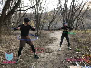More hula hoop fun